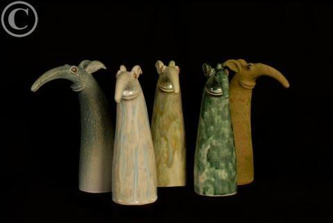 Ohukaiset -figures.  Designed and created by   Henna Lappalainen.