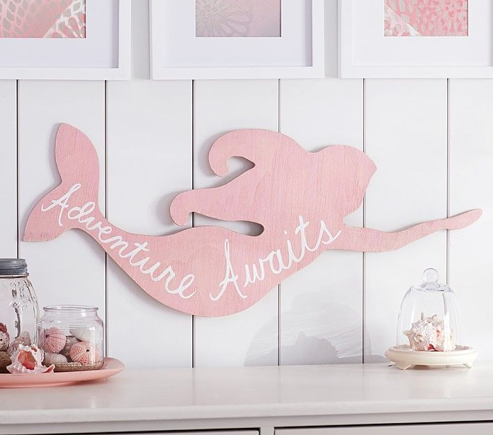 Need To Do A Diy Version Of This Mermaid Sentiment Art Plaque Pottery Barn Kids
