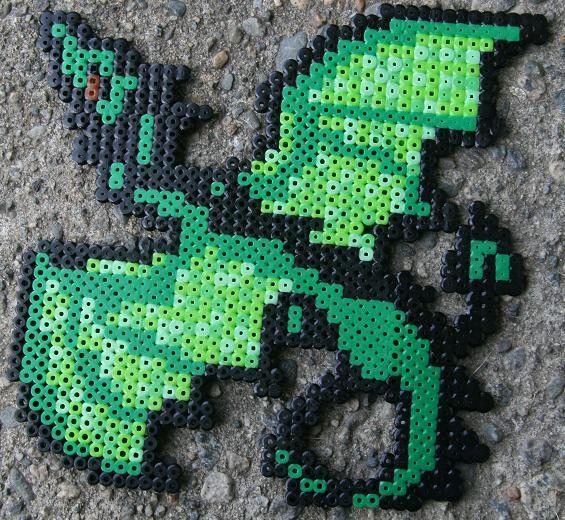 perler beads green dragonCrafts Perlerbead, Beads Crafts, Beads Dragons, Perler Beads, Hama Beads, Dragons Perler, Beads Pattern, Beads Ideas, Perler Dragon