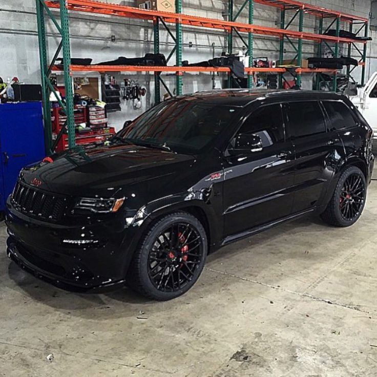 "CarsWithoutLimits on Instagram: ""Blacked Out Jeep SRT With Red Accents • Follow @TheAutoFirm #AlexVega"""