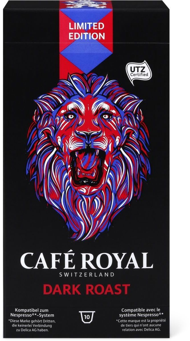 Café Royal Limited Edition Dark Roast #Coffee #Packaging #Lion
