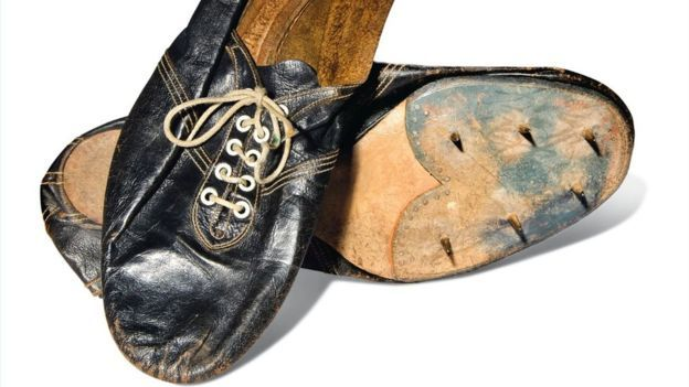 The shoes worn by Sir Roger Bannister when he ran the sub-four-minute mile