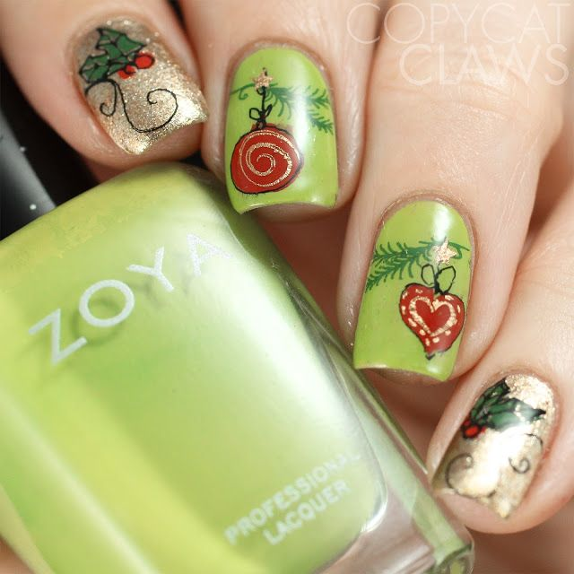 409 best Holiday  Winter Manis images on Pinterest  Celebration