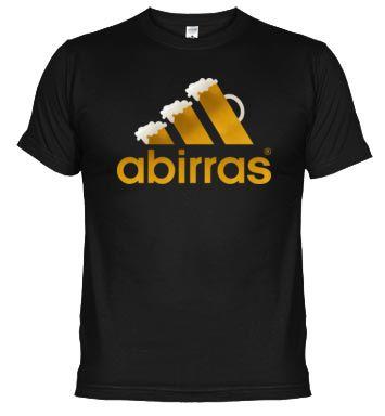 Camiseta Abirras (Logo Adidas). Abirras es la marca de ropa deportiva de la gente aficionada a otro tipo de deporte...