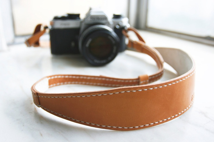 Handmade Camera Neck Strap with Adjustable Length - made to order via Etsy.