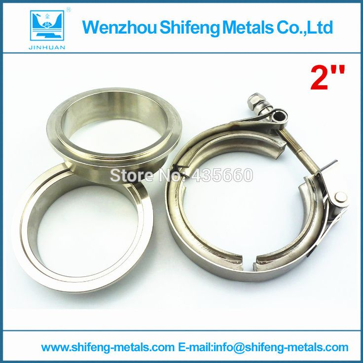"2"" Self Aligning Male/Female quick release V-Band Vband Clamp Stainless Steel Flange Kit"