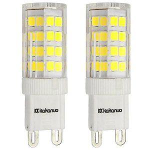 Kakanuo 2X G9 4W LED Ampoule 220-240V Blanc Froid 6000K Non-dimmable Base en céramique 360LM Remplacement A L'halogène 51 2835SMD 360…