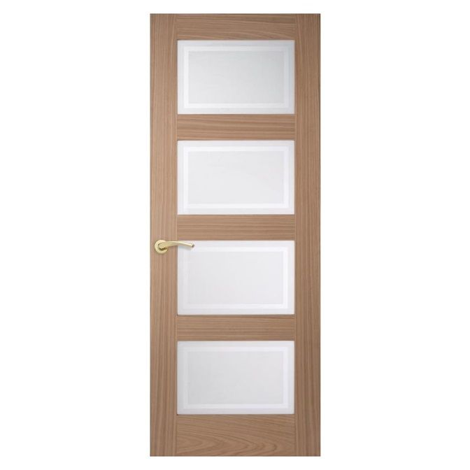Let Light Into Your Home With Our Four Windowed Shaker Style Internal Door Richly Veneered With Real Oak Internal Doors Oak Doors Glazed Door