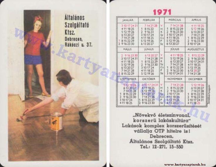 1971 - 1971_0569 - Régi magyar kártyanaptárak