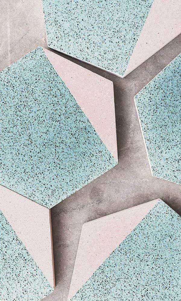 Aqua And White Hexagonal Floor And Wall Granito Tile