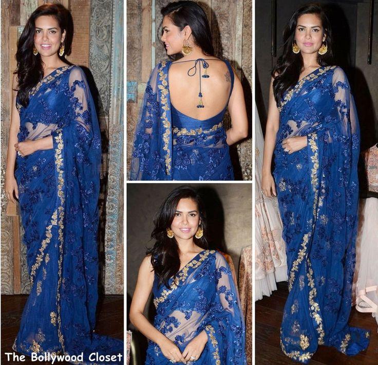 Designer Bollywood Party Wear Saree Sari Wedding Indian Blue Pakistani Saree