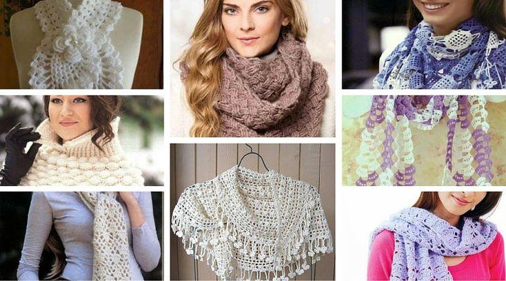 Mejores 8 imágenes de Bufanda infinita crochet en Pinterest ...