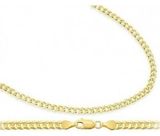 Fine Jewelry 14K Yellow Gold 4.65 MM Curb Necklace 20 eaY1X4yUbp