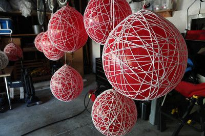better diy yarn lantern instructions than the michael's ones.