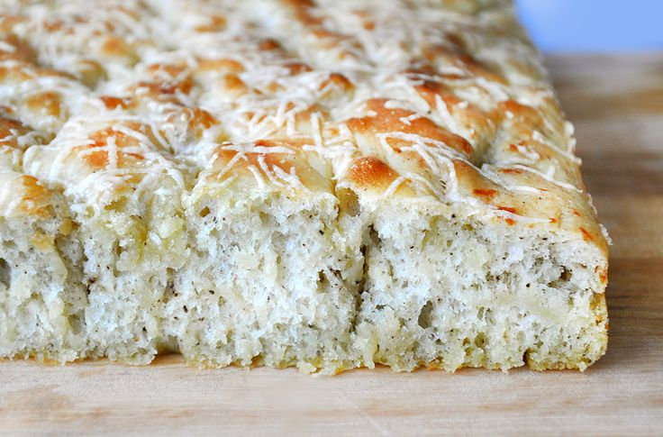 Parmesan Black pepper Focaccia. Who can resist the comforting smell of freshly-baked bread? And this one has an entire cup of cheese!