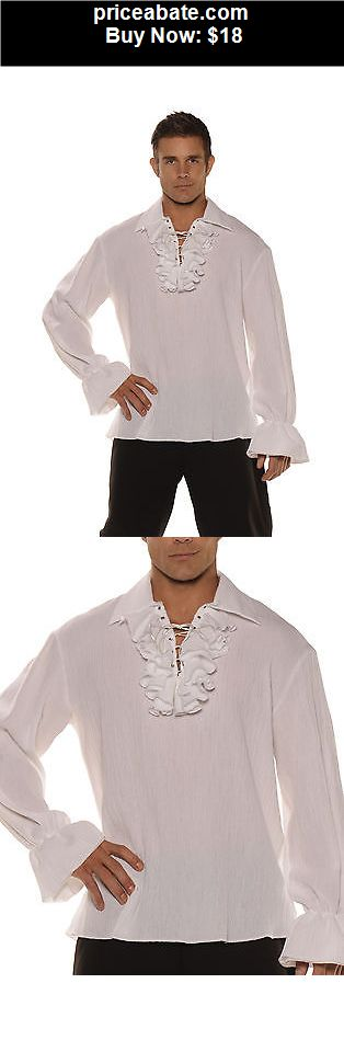 Men-Costumes: White Gauze Pirate Shirt Adult Male Halloween Costume - BUY IT NOW ONLY $18