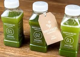 Green juices at Roots and Bulbs in London. See full London guide on www.theblondeyogi.com