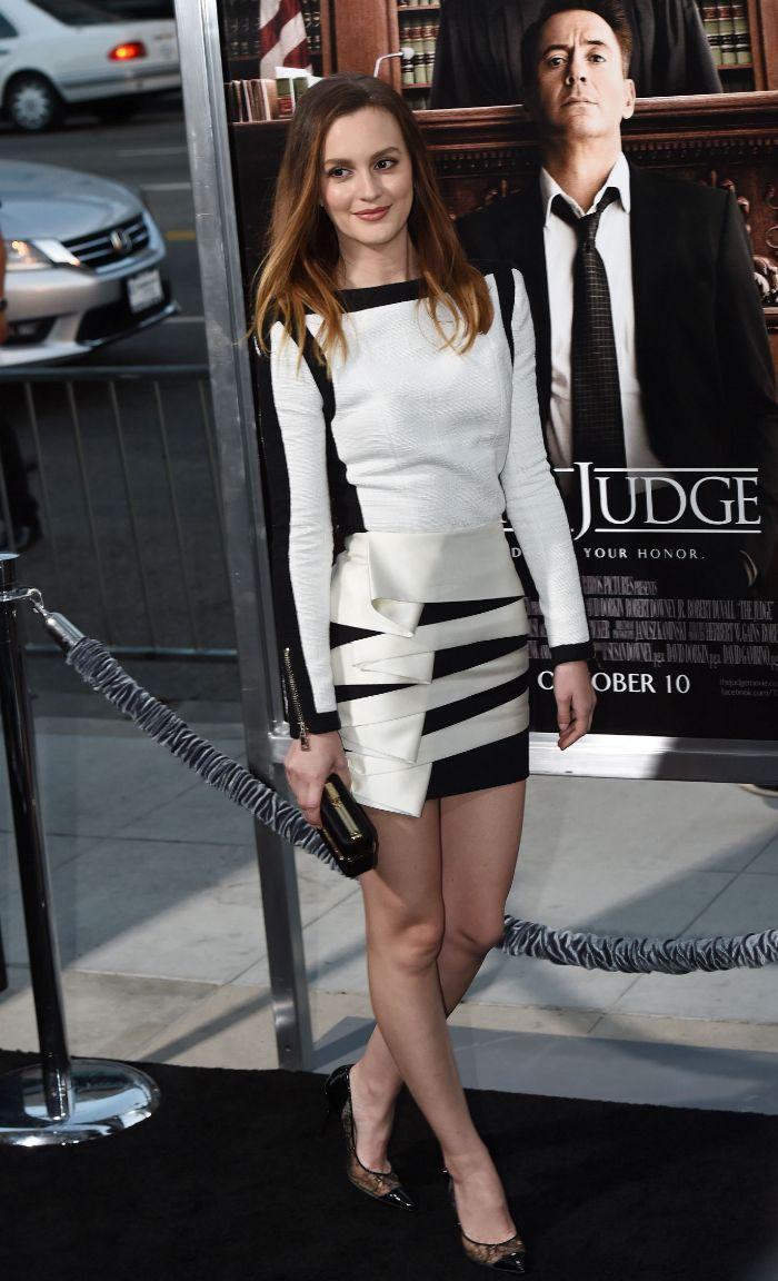 Al más puro estilo Blair Waldorf (el personaje de ficción que la hizo famosa en 'Gossip Girl') Leighton Meester acudió anoche al estreno de The Judge.