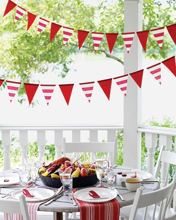 super cute clam bakeDiy Flags, Flags Banners, Flags Streamers, Parties Decorations, Birthday Parties, Parties Ideas, Martha Stewart, Flags Garlands, Flags Parties