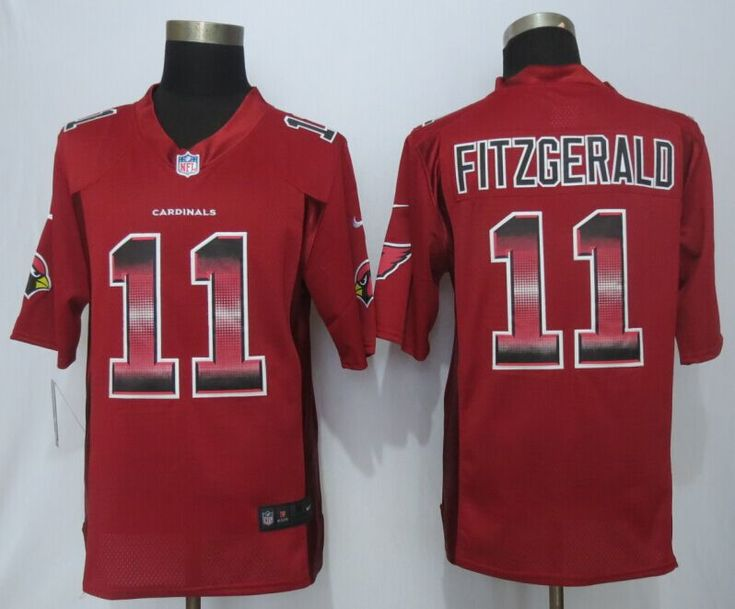 uk availability a6cdc 20758 ... Arizona Cardinals 11 Fitzgerald Red Strobe Football Limited Jerseys  Size S 11 Mens Larry Fitzgerald ...