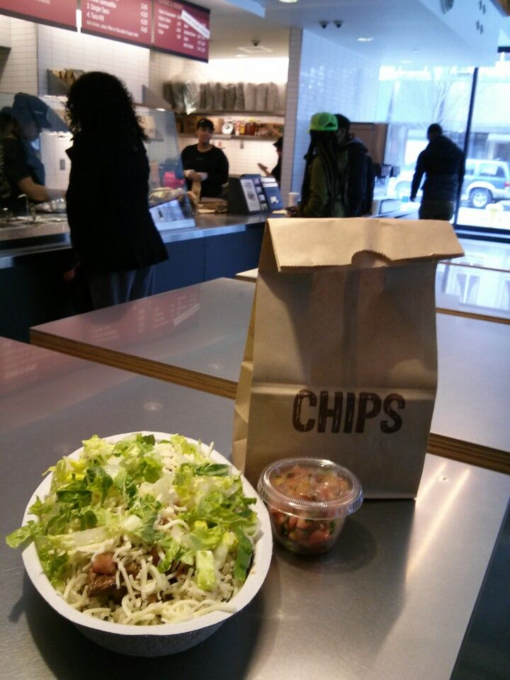 Chipotle - Burrito bowl is the way to go! Fav spot for quick mexican.