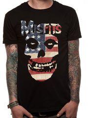 Misfits USA Skull T-paita.