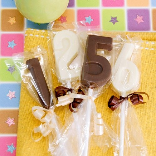Birthday Number Chocolate Lollipop by Beau-coup