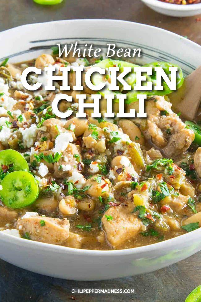 White Bean Chicken Chili White Bean Chicken Chili Spicy Soup Recipes Spicy Chicken Recipes