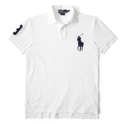 New Ralph Lauren Mens White Polo Shirt