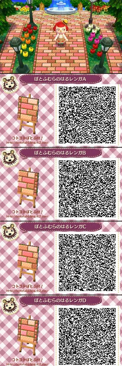 107 best acnl paths images on pinterest bricks fall for Acnl boden qr codes