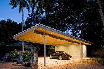 Jolly residence sarasota florida modern garage and for Flat roof garage plans modern