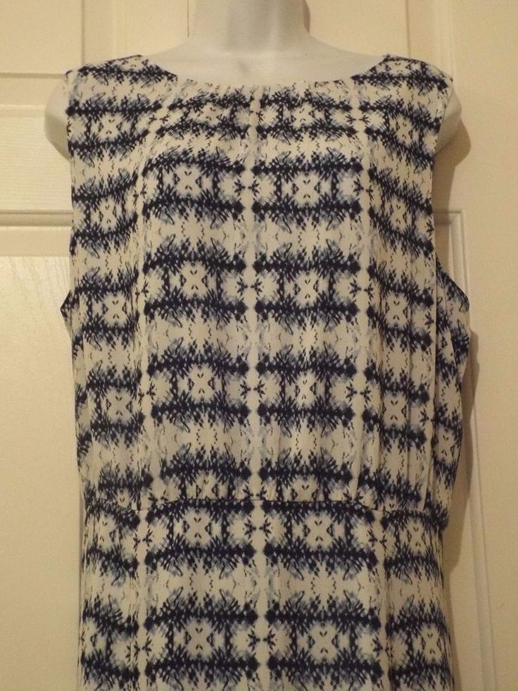 Women's Midi Dress by Pendleton Size 16 Petite Sundress Blue and White Boardwalk #Pendleton #mididress #Casual