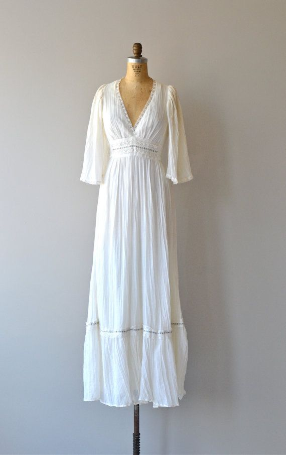 Music is Love dress vintage 1970s dress cotton by DearGolden