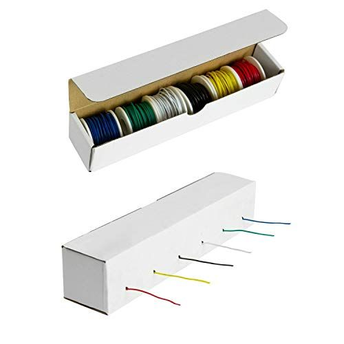 Hook-Up Wire Kit 22 Gauge Six 25 Foot Spools Solid Wire