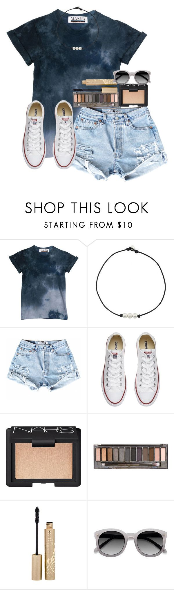 """Set inspired by my sis!"" by amaya-leigh ❤ liked on Polyvore featuring Converse, NARS Cosmetics, Urban Decay and Stila"