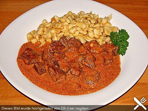 Rahmgulasch aus dem Crock Pot / Slow Cooker, ein gutes Rezept aus der Kategorie Schmoren. Bewertungen: 1. Durchschnitt: Ø 3,0.