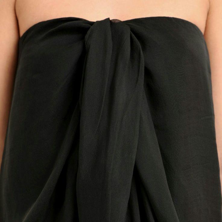 #strapeless #silk #dress #chiffon
