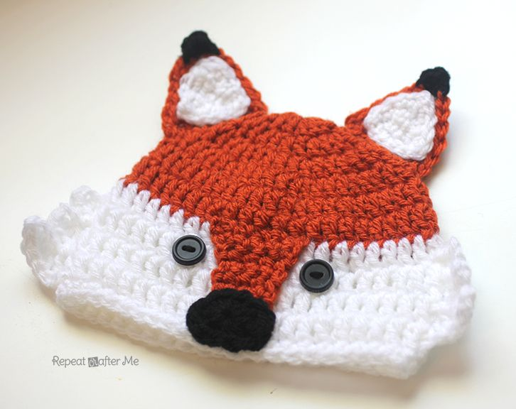 Repeat Crafter Me: Crochet Fox Hat