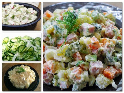 Orosz hússaláta: Hozzávalók: 35 dkg sült, vagy főtt hús, 40 dkg burgonya, 15 dkg alma, 15 dkg ecetes uborka, 2,5 dkg mustár, só, törött bors,…
