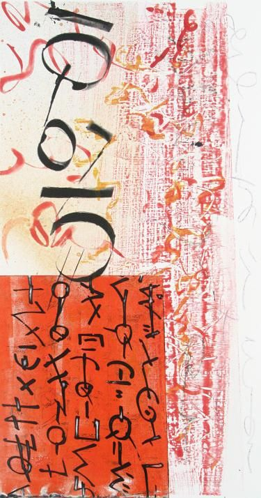 """Scriptograph #8, 2012, watercolor from vellum and mat board, 27"""" x 17"""""""