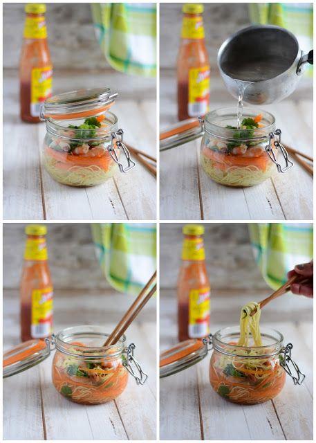 Nouilles chinoises instantanées aux crevettes