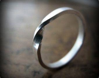Mobius Ring Sterling Silver Ring 9k Mobius Ring Solid Gold
