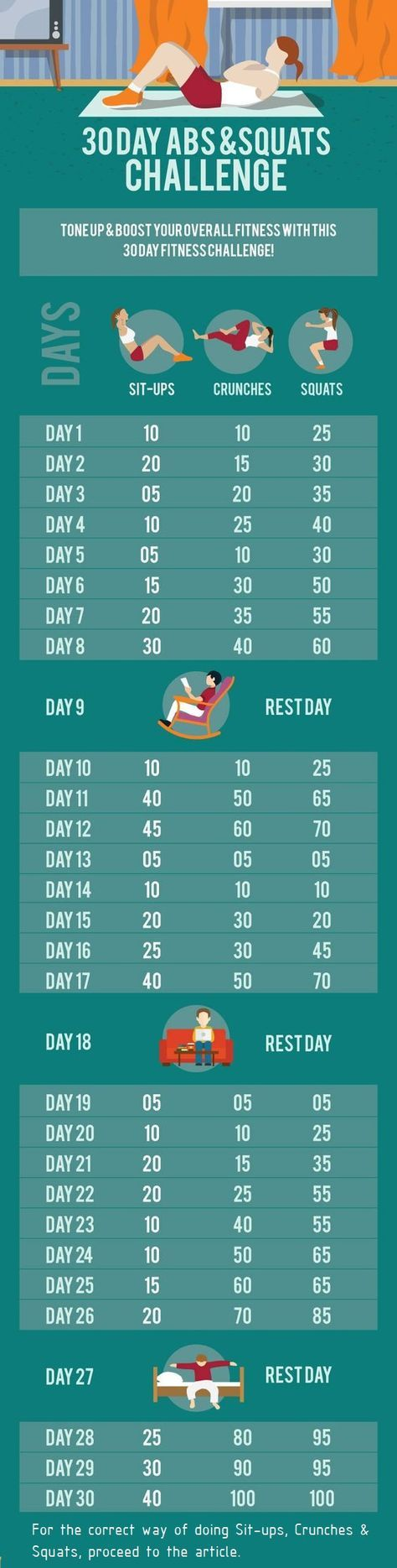 Follow this 30 day abs & squat challenge to achieve INCREDIBLE results! For more information visit: http://www.liveinfinitely.com/