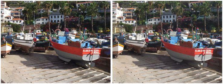 Funchal fishing boats 3D 2017
