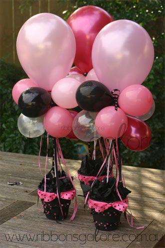 Balloon centerpiece party pinterest centerpieces for Helium balloon centerpieces