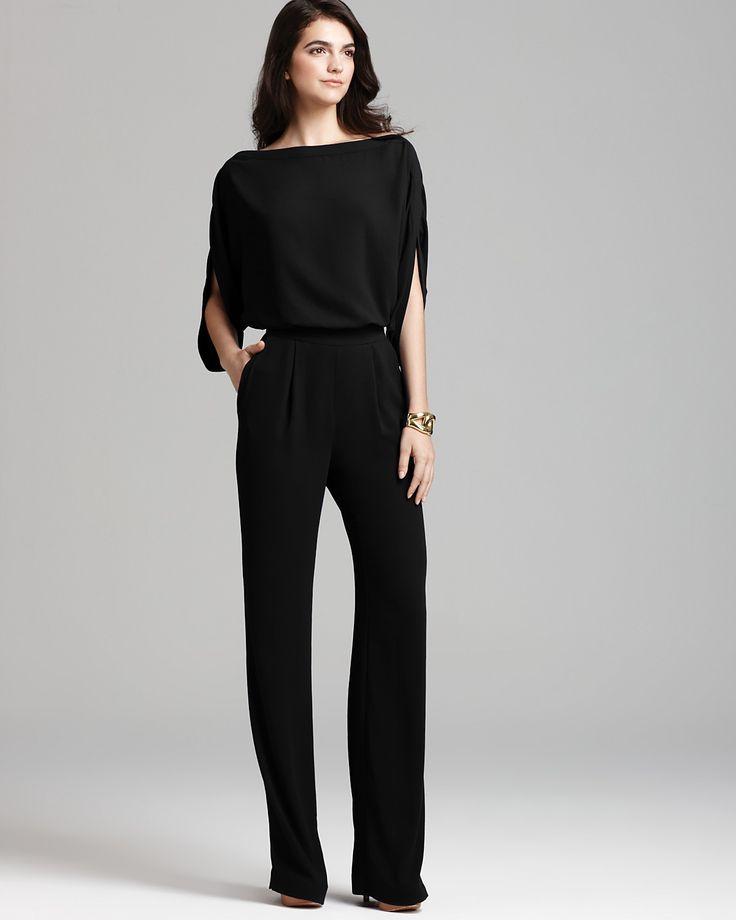DIANE von FURSTENBERG Jumpsuit - Lucy PRICE: $425.00 - The 25+ Best Black Dressy Jumpsuits Ideas On Pinterest Dressy