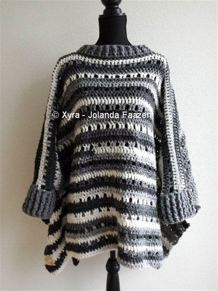 Free Crochet Pattern Poncho With Sleeves : 25+ Best Ideas about Crochet Poncho With Sleeves on ...