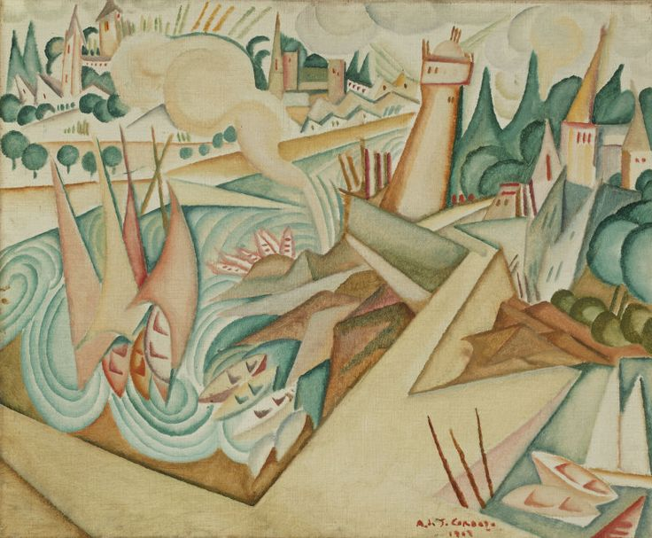 Amadeo de Souza Cardoso (1887-1918)  Landscape, 1912  | The Art Institute of Chicago