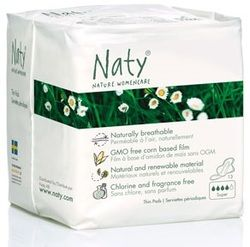 Naty Nature Womencare Organic Sanitary Napkins Super - with Wings $5.99 - from Well.ca
