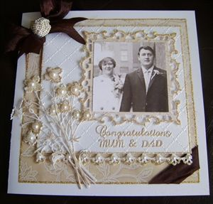 Mum and Dad's Golden Wedding Anniversary Card/Box by: snoflake